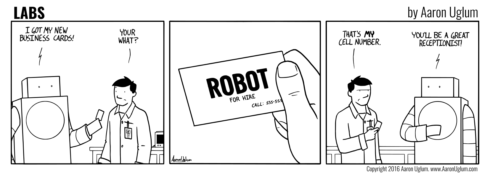 LABS 09/10/16 - The Robot's Business Cards