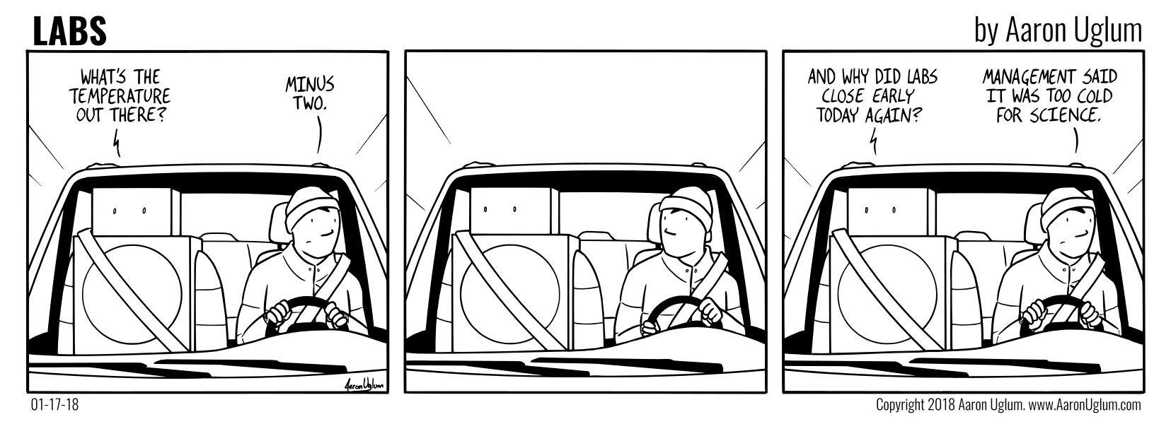 LABS Cartoon 01/17/18 - Driving Home