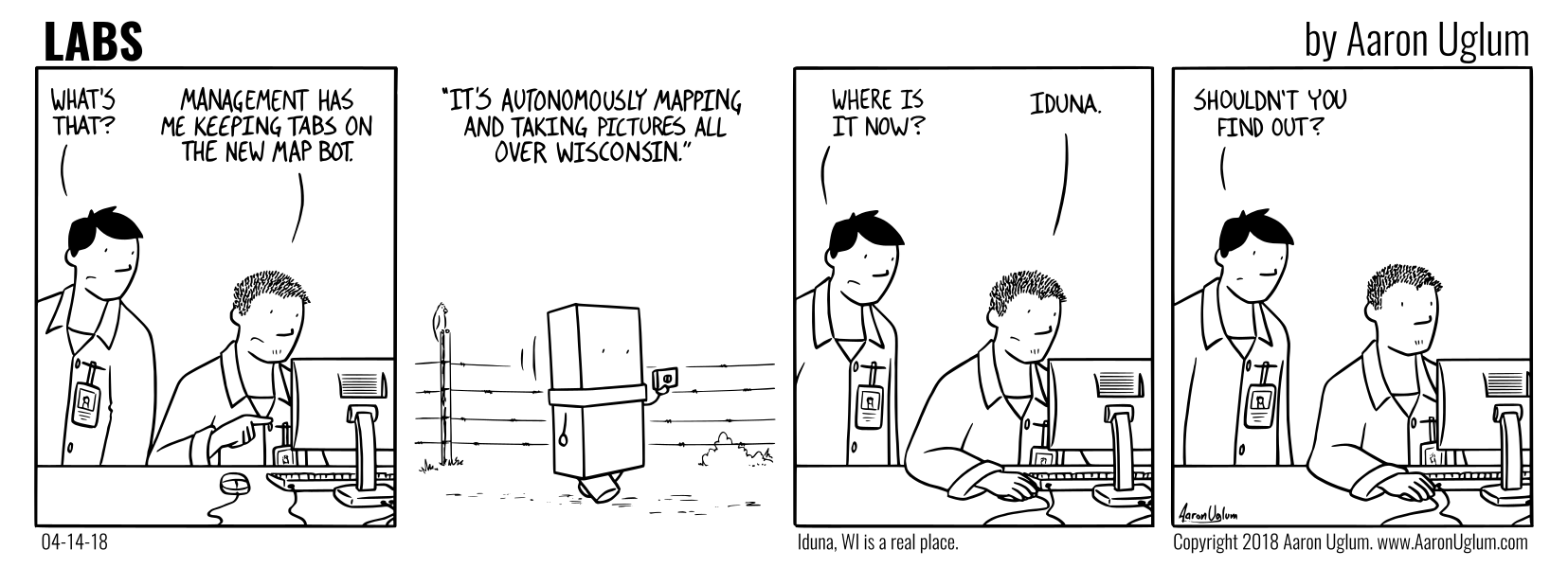 LABS Cartoon 04/14/18 - The Map Bot